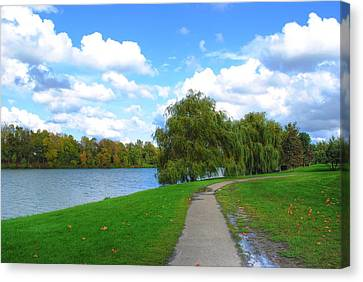 Canvas Print featuring the photograph Path by Michael Frank Jr