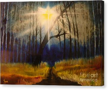 Canvas Print featuring the painting Path Of The Righteous by Barbara Hayes
