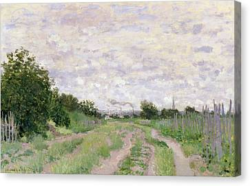 Path Through The Vines At Argenteuil Canvas Print by Claude Monet