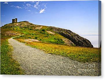 Path To Cabot Tower On Signal Hill Canvas Print