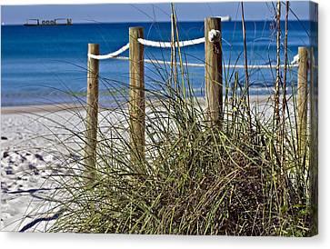 Canvas Print featuring the photograph Path To The Beach by Susan Leggett