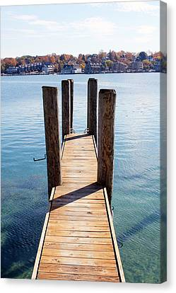 Path To The Harbor Canvas Print by Sheryl Burns