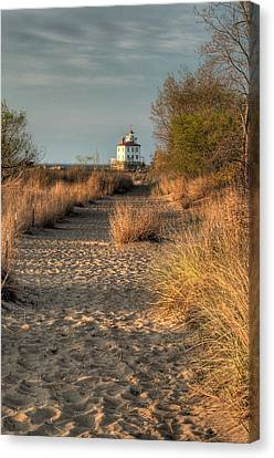 Path To The Light Canvas Print by At Lands End Photography