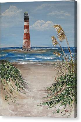 Pathway To Morris Island Canvas Print