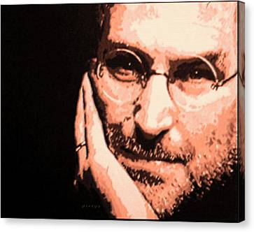 Patience Look Of Steve Jobs Canvas Print by Piety Dsilva