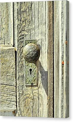 Canvas Print featuring the photograph Patina Knob by Fran Riley