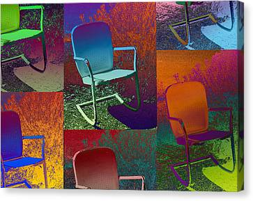Canvas Print featuring the photograph Patio Chair by David Pantuso