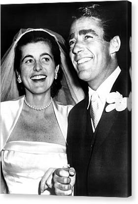 Patricia Kennedy Lawford And Husband Canvas Print by Everett