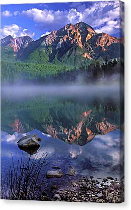Patricia Lake Banff Canada Canvas Print by Dave Mills