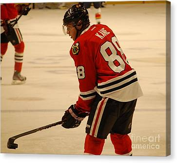 Canvas Print featuring the photograph Patrick Kane - Chicago Blackhawks by Melissa Goodrich