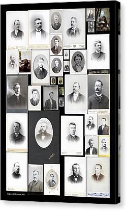 Genealogy Canvas Print - Patrilineage by Eric Edelman