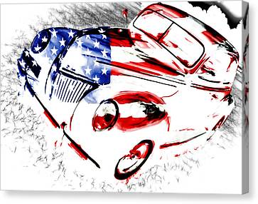 Patriotic 39 Ford Canvas Print by Phil 'motography' Clark