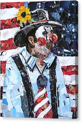 Patriotic Clown Canvas Print by Suzy Pal Powell