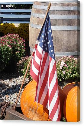 Farm Stand Canvas Print - Patriotic Farm Stand by Kimberly Perry