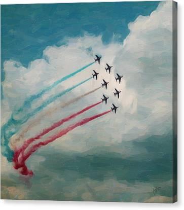 Patrouille De France Canvas Print by Nop Briex