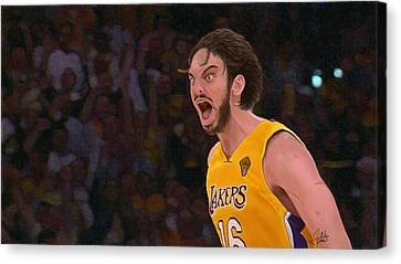 Pau Gasol Canvas Print by Zaida Ortega