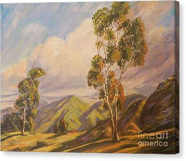 Paul Grimm California Impressionism Canvas Print by Sunanda Chatterjee