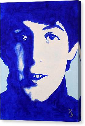 Paul Mccartney - The Beatles Canvas Print by Bob Baker