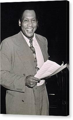 Paul Robeson Recording Joe Louis Blues Canvas Print by Everett