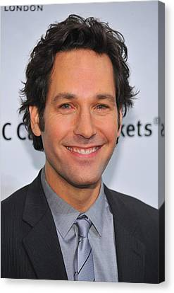Cipriani Restaurant Wall Street Canvas Print - Paul Rudd At Arrivals For Ifps 20th by Everett