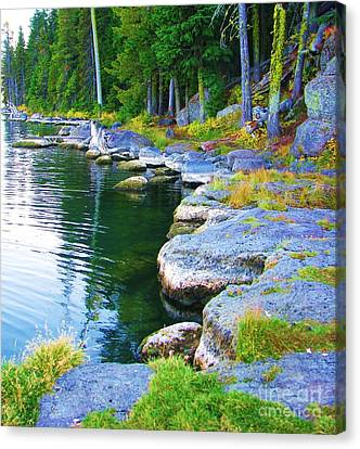 Canvas Print featuring the photograph Paulina Lake Shore by Michele Penner
