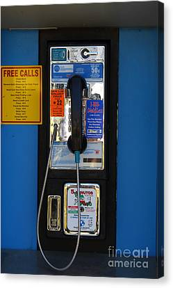 Kitschy Canvas Print - Pay Phone . 7d15934 by Wingsdomain Art and Photography