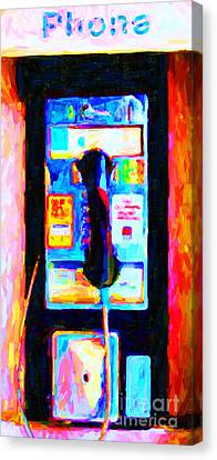 Pay Phone . V2 Canvas Print by Wingsdomain Art and Photography