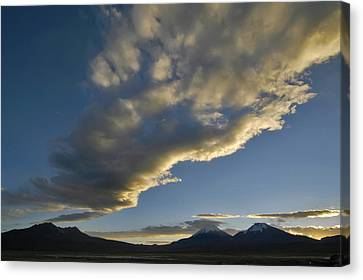 Andes Canvas Print - Payachatas Mountains. Republic Of Bolivia.  by Eric Bauer