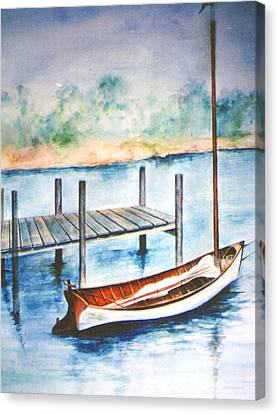 Pea Pod Boat Canvas Print