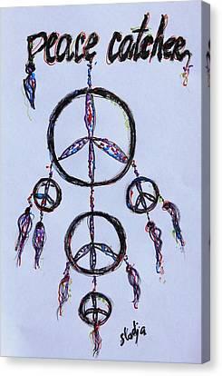 Peace Catcher Canvas Print by Sladjana Lazarevic