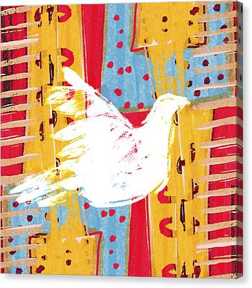 Peace Dove 2 Canvas Print by Carol Leigh