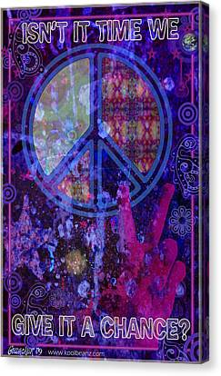 Peace Canvas Print by John Goldacker