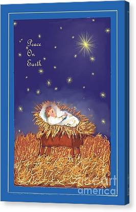 Peace On Earth Canvas Print by Dessie Durham