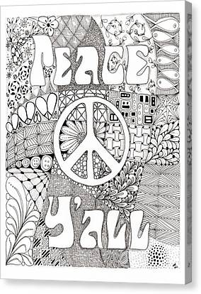 Peace Y'all Canvas Print by Paula Dickerhoff