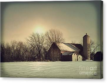 Peaceful Barn Canvas Print by Joel Witmeyer