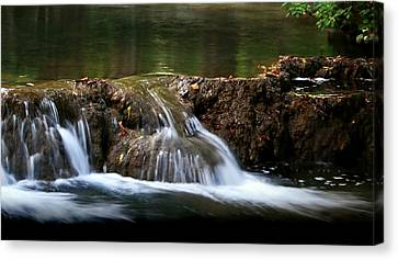 Peaceful Falls Canvas Print by Karen Harrison