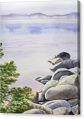 Peaceful Place Morning At The Lake Canvas Print by Irina Sztukowski