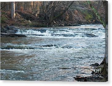 Peaceful River Canvas Print by Michael Waters