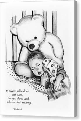 Peaceful Sleep Canvas Print by Joyce Geleynse