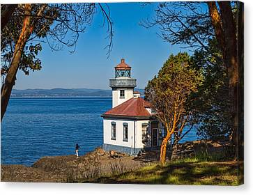 Canvas Print featuring the photograph Peaceful Thinking by Ken Stanback