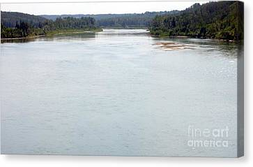 Canvas Print featuring the photograph Peaceful Waters by Jim Sauchyn
