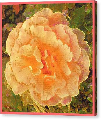Canvas Print featuring the painting Peach Begonia by Richard James Digance
