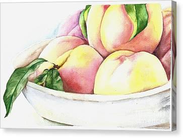 Peaches Canvas Print by Elizabeth York
