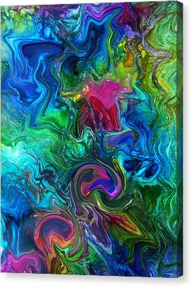 Peacock Feather Abstract Canvas Print