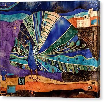 Peacock Canvas Print by Sandra Kern