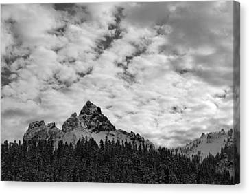 Peaks In The Tatoosh Range Canvas Print by Twenty Two North Photography