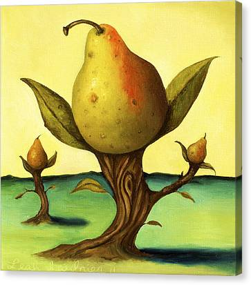 Pear Trees 2 Canvas Print by Leah Saulnier The Painting Maniac