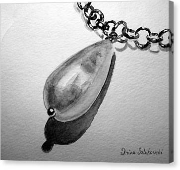 Pearl Necklace Canvas Print