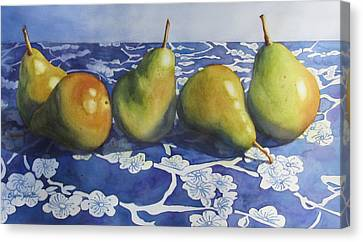 Pears Canvas Print by Daydre Hamilton