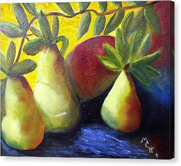 Pears In Sunshine Canvas Print